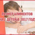 Размер алиментов на 2 детей в 2020 году